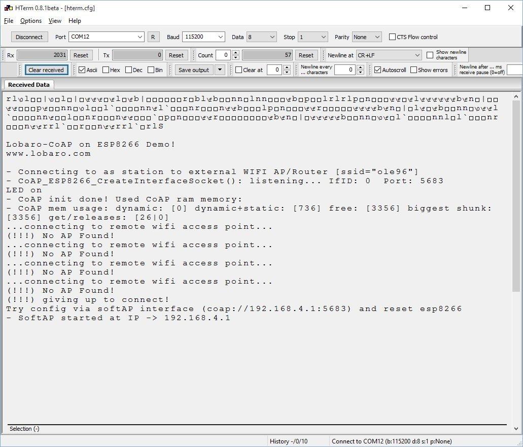 lobaro CoAP on ESP8266 – Lobaro com – IoT Sensoren, Backends