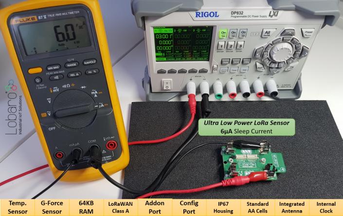 Ultra low power Lorawan Sensor