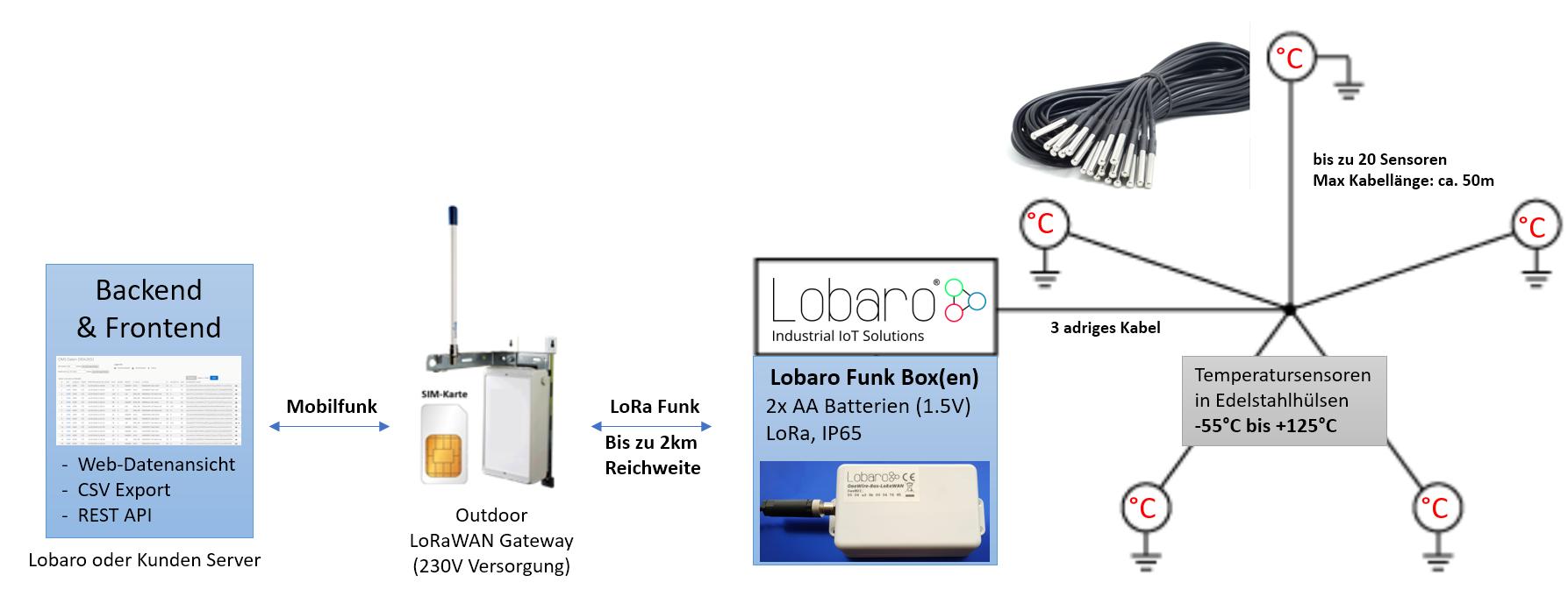 LoRaWAN Temperatur Sensor Monitoring