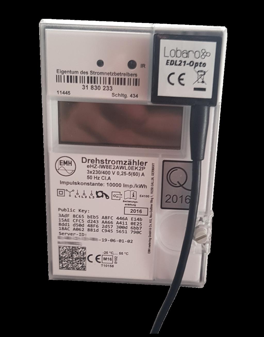 EDL21 Stromzähler Optokopf via LoRaWAN