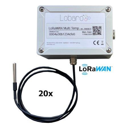 Multiple DS18B20 1-Wire Sensors upload via LoRaWAN