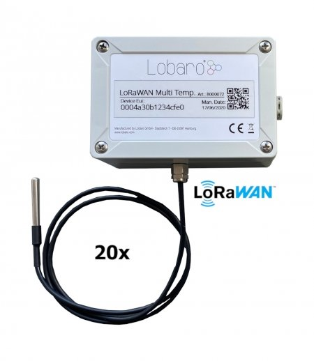 Multiple DS18B20 1-Wire Sensors upload via LoRaWAN