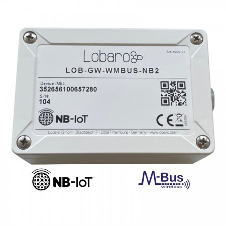 Narrowband IoT LTE CAT M1 wireless M-Bus Gateway celluar