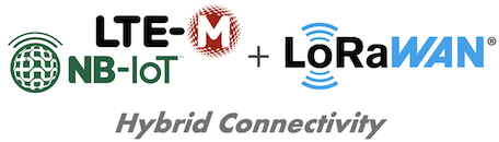 Hybrid devices LoRaWAN and NB-IoT or LTE-M1