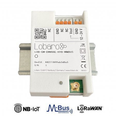 DIN Rail wireless M-Bus Gateway